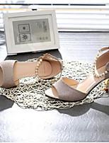 Femme Chaussures à Talons Confort Escarpin Basique Polyuréthane Eté Décontracté Confort Escarpin Basique Or Argent 2,5 à 4,5 cm