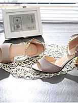 Women's Heels Basic Pump Comfort PU Summer Casual Basic Pump Comfort Silver Gold 1in-1 3/4in