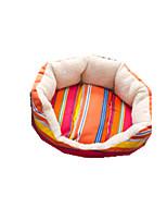 Cat Dog Bed Pet Baskets Stripe Keep Warm Soft Durable Random Color