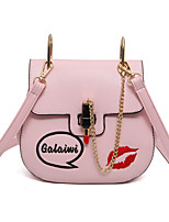 Women Shoulder Bag PU All Seasons Event/Party Sling Bag Clasp Lock Blushing Pink Black White