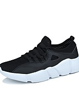 Men's Athletic Shoes Comfort Light Soles Spring Fall Breathable Mesh PU Cycling Shoes Athletic Casual Outdoor Lace-up Flat Heel Black