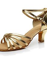 Feminino Latina Seda Saltos Apresentação Salto Cubano Dourado Prata Nú 2,5 - 4,5 cm 5 - 6,8 cm Personalizável