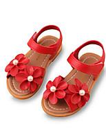 Mädchen Sandalen Komfort Kunstleder Sommer Normal Komfort Weiß Rot Rosa Flach