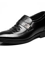 Для мужчин Туфли на шнуровке Формальная обувь Кожа Весна Осень Повседневные Формальная обувь Черный Менее 2,5 см