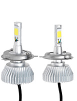 KKmoon One Pair of H4 COB LED Light Car Headlight Fog Lamp Kit 30W Close/Far light Double Beam