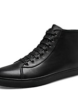 Men's Boots Comfort Snow Boots Fashion Boots Bootie Winter Real Leather Nappa Leather Cowhide Casual Outdoor Office & Career Lace-up Flat