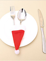 Plus d'accessoires Outils de cuisine Ornements Accessoires Parti Noël Nouvelle Année Vacances Dessin animé rustique ThemeNon-Tissé Tissu