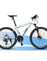 Vélo tout terrain Cyclisme 27 Vitesse 27 pouces Microshift 24 Frein à Double Disque Fourche de suspension Cadre en Alliage d'Aluminium