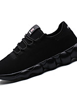 Men's Sneakers Comfort Light Soles Spring Fall Tulle Casual Outdoor Lace-up Flat Heel Black Gray Ruby Flat