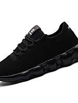 Для мужчин Кеды Удобная обувь Светодиодные подошвы Тюль Весна Осень Повседневные Удобная обувь Светодиодные подошвы ШнуровкаНа плоской