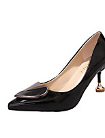 Women's Heels Comfort Formal Shoes Fall PU Walking Shoes Office & Career Dress Party & Evening Stiletto Heel Black Beige Blushing Pink