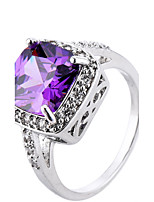 Ring Women's Euramerican Luxury Classic 2 Colors Square Rhinestone Ring Daily  Party Gift Movie Jewelry