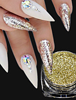 1Bottle Fashion Gorgeous Gold Glitter Powder Holographic Pigment Shining Effect For Nail DIY Beauty Decoration 6CS07