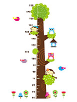 Wall Stickers Wall Decas Style Cartoon Animals Measure Your Height PVC Wall Stickers