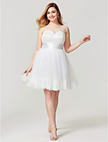 Princess Jewel Neck Knee Length Tulle Party Dress with Appliques