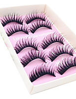 Eyelashes lash Full Strip Lashes Eyes Fiber Black Band