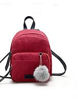 Women Backpack PU All Seasons Casual Round Zipper Red Blushing Pink Gray