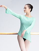 Ballet Women's Training Tulle Netting 1 Piece Long Sleeve High Tops