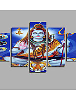 Unframed 5 Piece Art Shiva Buddha India Lord Canvas Art Modular Paintings For The Hall Living Room Decor Modern Printings