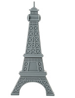 Cartoon Plastic Paris Tower 256gb usb2.0 lecteur flash haute vitesse, lecteur USB