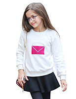 Girls' Solid Blouse,Cotton Autumn/Fall Winter Long Sleeve Regular