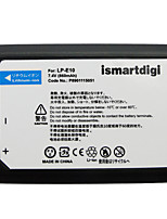 Ismartdigi LPE10 7.4V 860mAh Camera Battery for Canon EOS 1100D 1200D 1300D X50 T3