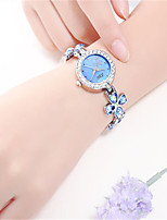 Women's Fashion Watch Quartz Alloy Band Black White Blue Green Pink Purple