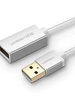 UGREEN USB 2.0 Câble d'extension, USB 2.0 to USB 2.0 Câble d'extension Mâle - Femelle 2.0m (6.5ft)