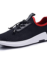 Men's Sneakers Comfort Lycra Breathable Mesh Spring Summer Athletic Casual Outdoor Lace-up Black Black/Red Flat