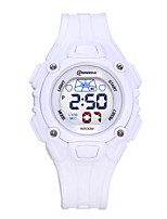 Kid's Sport Watch Fashion Watch Quartz Water Resistant / Water Proof Rubber Band Black White Red Yellow