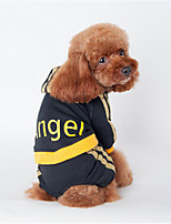 Dog Hoodie Clothes/Jumpsuit Dog Clothes Casual/Daily Letter & Number Black Blushing Pink