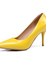 Mujer Tacones Confort Semicuero Primavera Otoño Casual Fiesta y Noche Vestido Confort Tacón Stiletto Negro Amarillo Rojo Rosa Nudo7'5 -