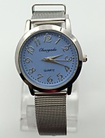 Women's Kid's Wrist watch Quartz Metal Band Vintage Casual Silver