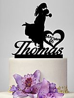 Personalized Acrylic Kiss You Wedding Cake Topper