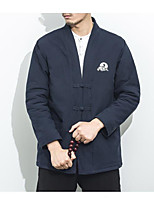 Men's Regular Padded Coat,Simple Active Daily Casual Solid-Cotton Polyester Cotton Long Sleeve