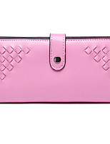 Women Clutch Cowhide All Seasons Casual Outdoor Square Snap Fuchsia Blushing Pink Black