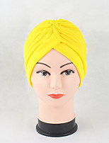Women's Cotton Beanie Floppy Hat Headwear Cute Casual Chic & Modern Daily Knitwear Hats Solid Spring Fall Pure Color Black/Red/Yellow