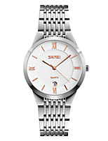 Skmei® Men's Stainless Steel Dress Wrist Watch 30m Waterproof Assorted Colors