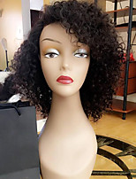 8A Short Bob Lace Front Human Hair Wigs Kinky Curly with Baby Hair 180% Density Brazilian Virgin Hair Bob Wig for Black Woman