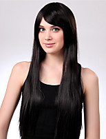 Long Straight Black Natural Wigs for Women Costume Cosplay Synthetic Wigs