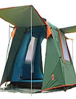 3-4 personnes Tente Double Tente pliable Deux pièces Tente de camping >3000mm Térylène Fibre de verreBonne ventilation Etanche Résistant