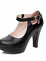 Femme Chaussures à Talons Chaussures formelles Cuir Printemps Automne Décontracté Chaussures formelles Gros Talon Noir 12 cm & plus