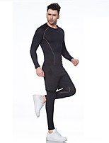 Men's Long Sleeve Running Clothing Suits Moisture Wicking Sports Wear Yoga Running/Jogging Jogging Fitness Slim