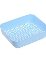 Square Porous Drainage Basket Practical Vegetable Pot Plastic Fruit Plate Fruit Basin
