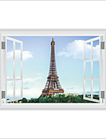 3D Wall Stickers Wall Decas Style Eiffel Tower PVC Wall Stickers