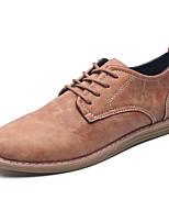 Для мужчин Туфли на шнуровке Удобная обувь Светодиодные подошвы Полиуретан Весна Осень Для вечеринки / ужинаУдобная обувь Светодиодные