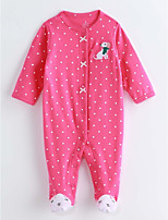 Baby Print One-Pieces,Cotton Spring/Fall Long Sleeve