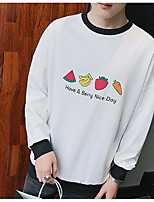 Men's Casual/Daily Simple Hoodie Print Letter Hooded Micro-elastic Polyester Others Long Sleeve Spring