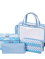 Women Bags All Seasons PVC Storage Bag with for Casual Blue