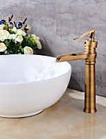Centerset Waterfall with  Ceramic Valve One Hole for  Antique Copper